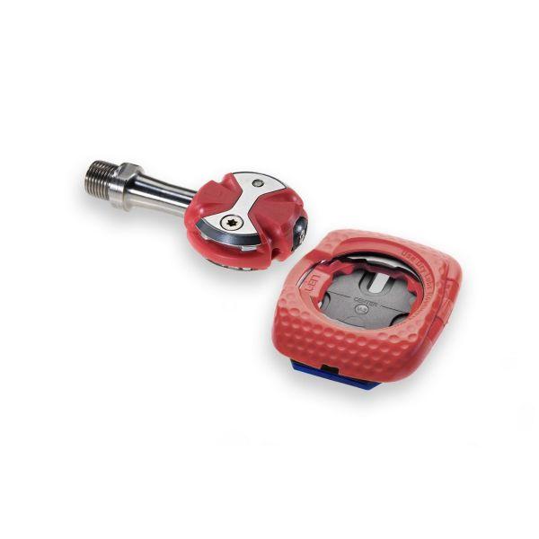 Paire de pédales ZERO Inox Rouge - cales Walkable rouge - Edition limitée