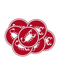 Sticker logo Castelli - 5cm