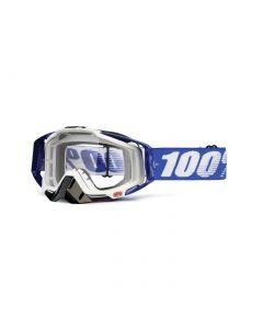 Masque RACECRAFT Bleu Cobalt - Lentilles Transparentes