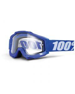 Masque ACCURI ENDURO MOTO Bleu Reflex - Lentilles Double-Ecran Transparentes