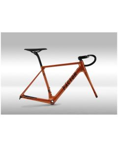 Kit cadre FACTOR O2 DISC - orange + roues BLACK INC THIRTY/FIFTY